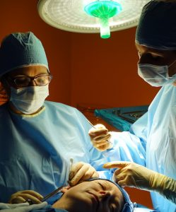 Dr. Whitaker performing a Cheek Lift on site in Atlanta Face & Body surgery center.