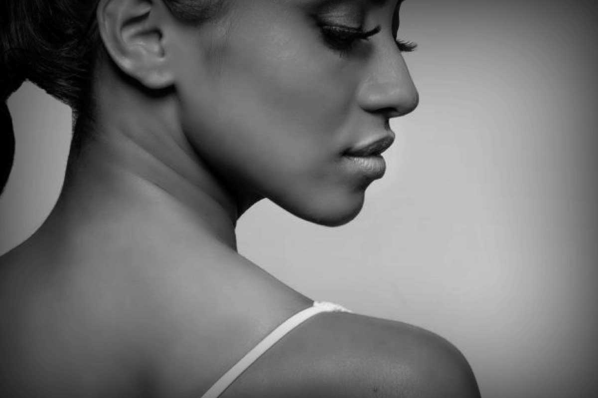 Black Woman's Shoulder and Face