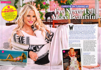 Christie Brinkley Featured in US Weekly