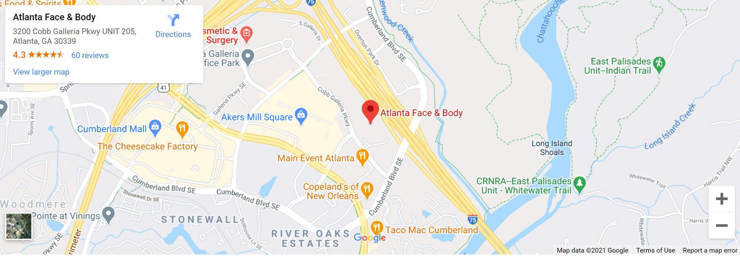 Atlanta Face& Body Map