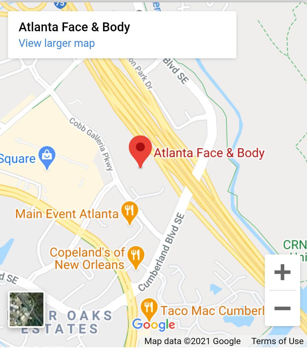 Atlanta Face & Body Map
